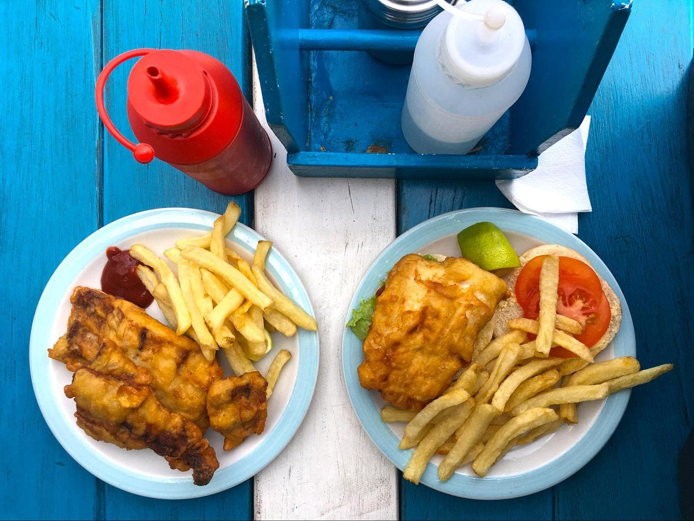Fish and chips, South African style