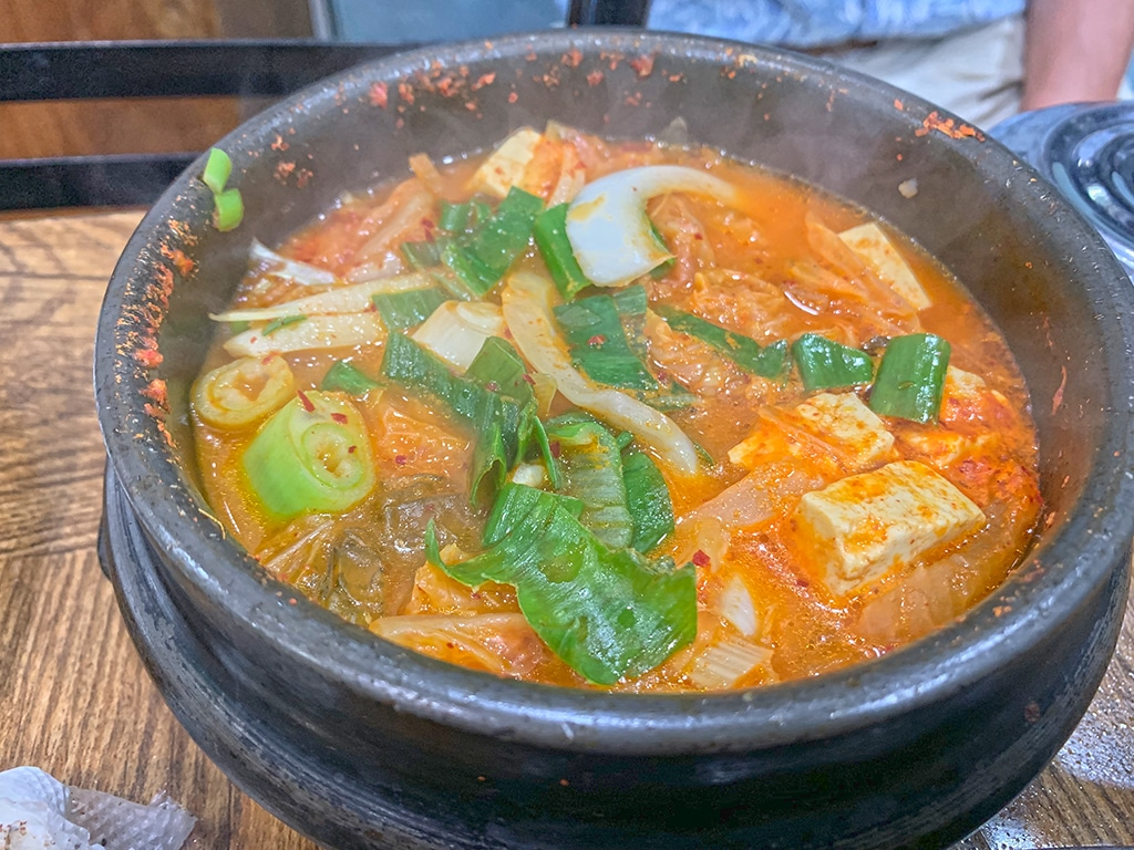 Kimchi jjigae or kimchi stew