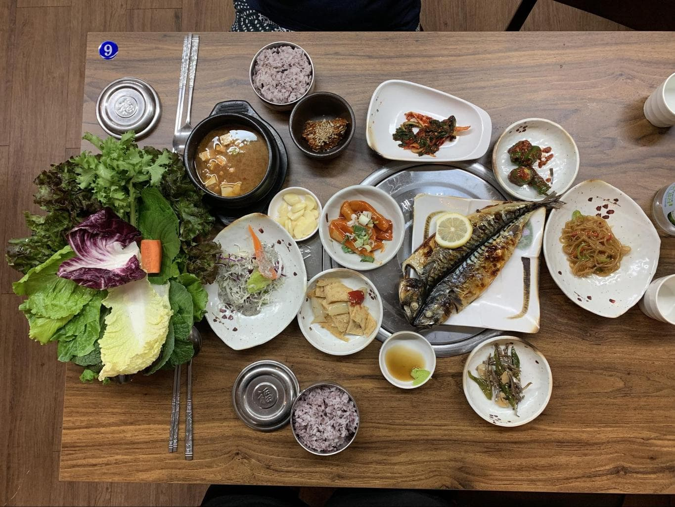 Multiple banchan in one meal