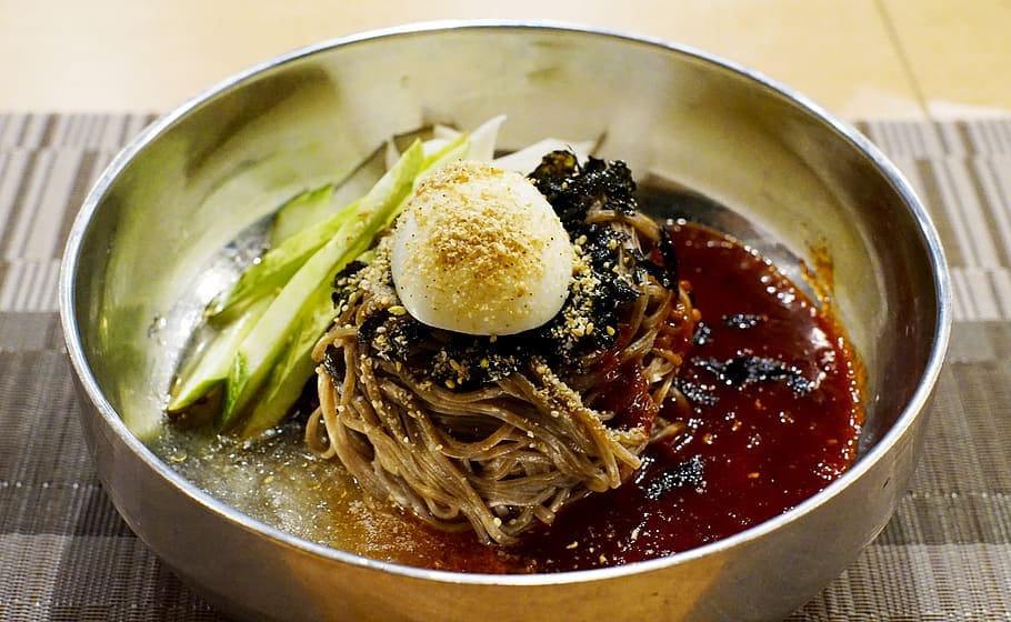 Naengmyeon is great in summer