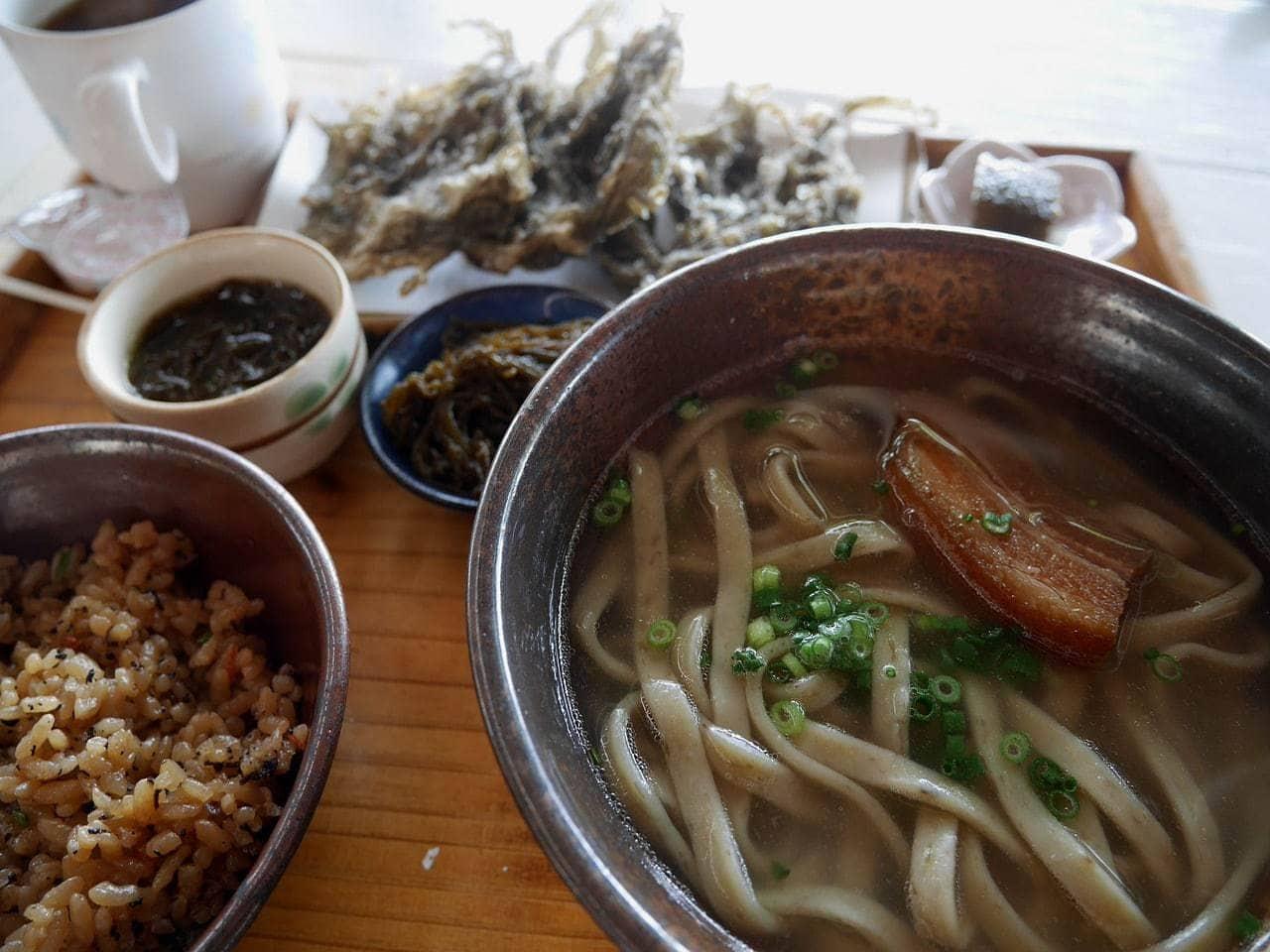 Okinawan soba noodles