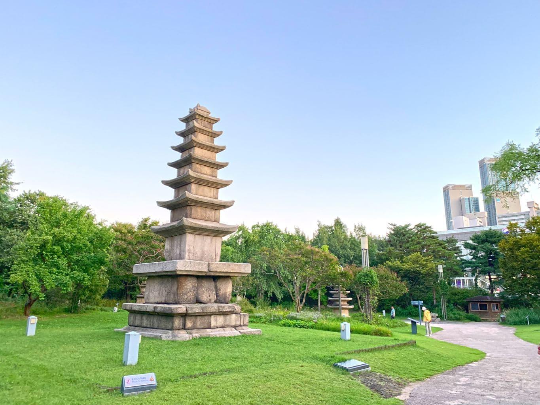 Pagoda garden near National Museum of Korea