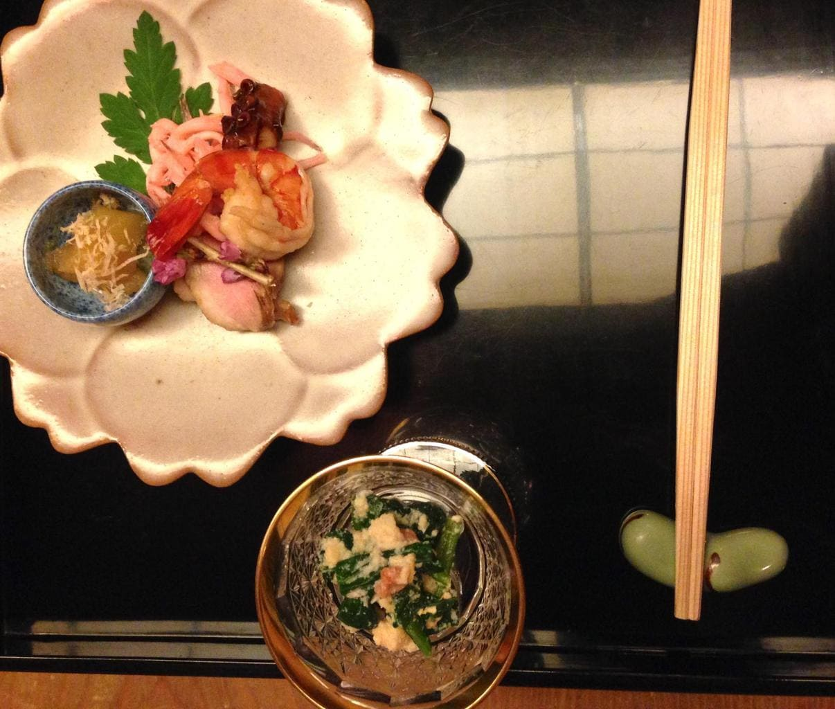 Part of a kaiseki meal