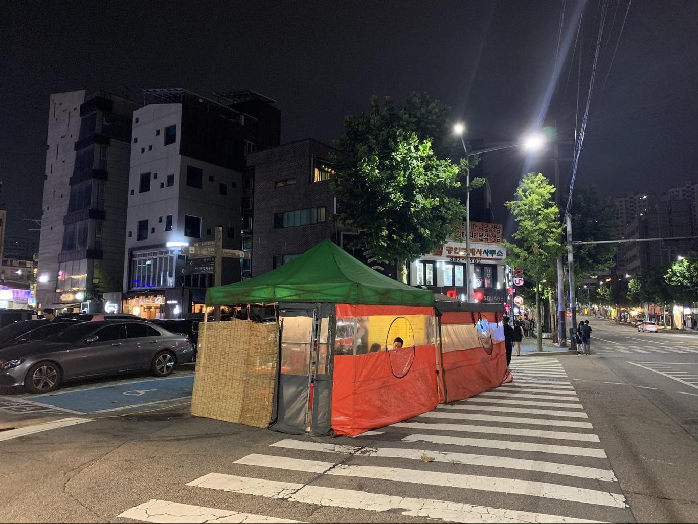Pojangmacha in Hongdae