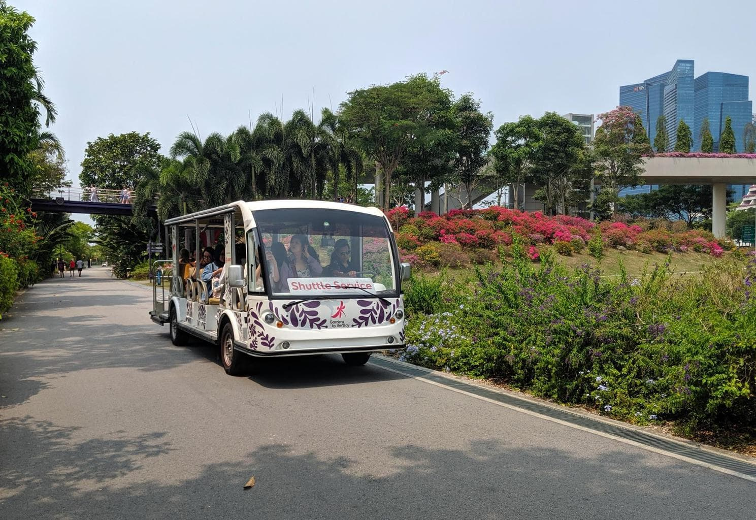 Shuttle service at Gardens by the Bay