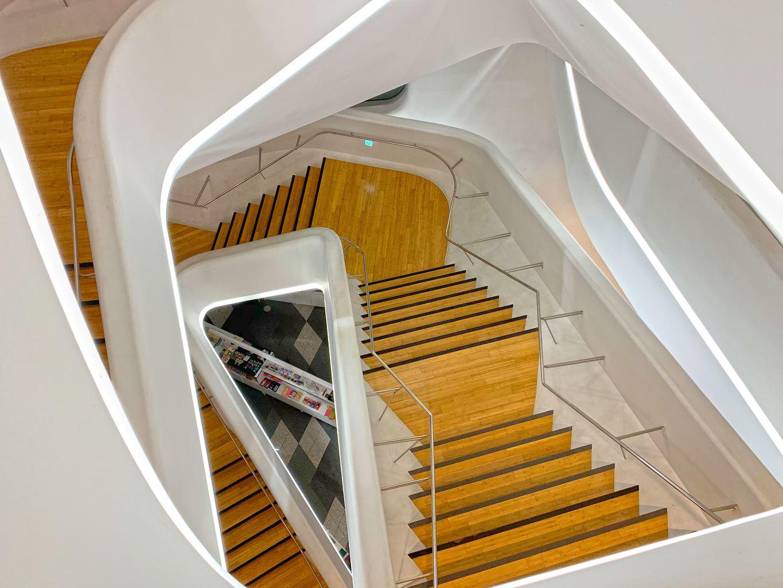 Spiral staircase at DDP