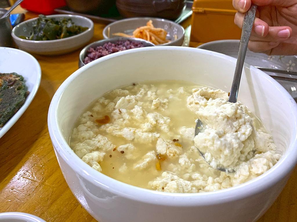 Sundubu jjigae or soft tofu stew