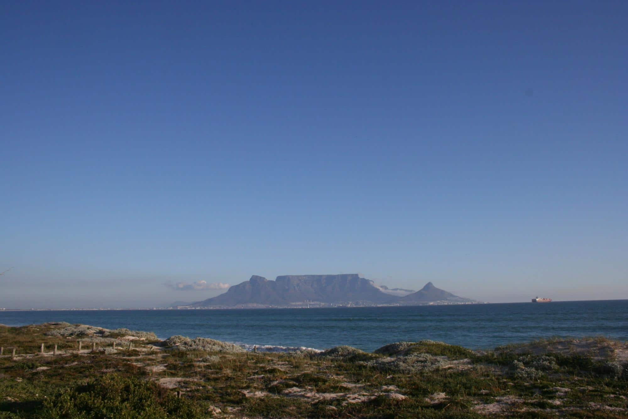 Table Mountain, what the first Europeans saw when arriving at the Cape of Good Hope