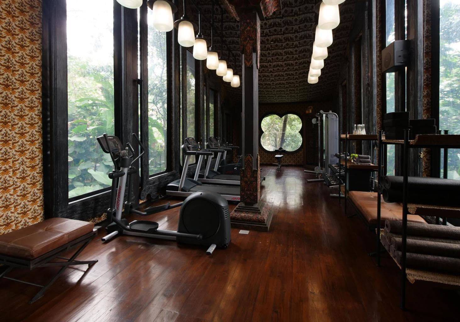 The Armoury, or gym, at Capella Ubud