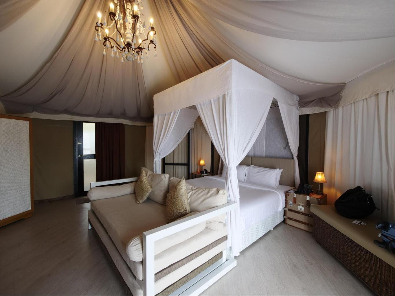 The bedroom tent at Natra Bintan