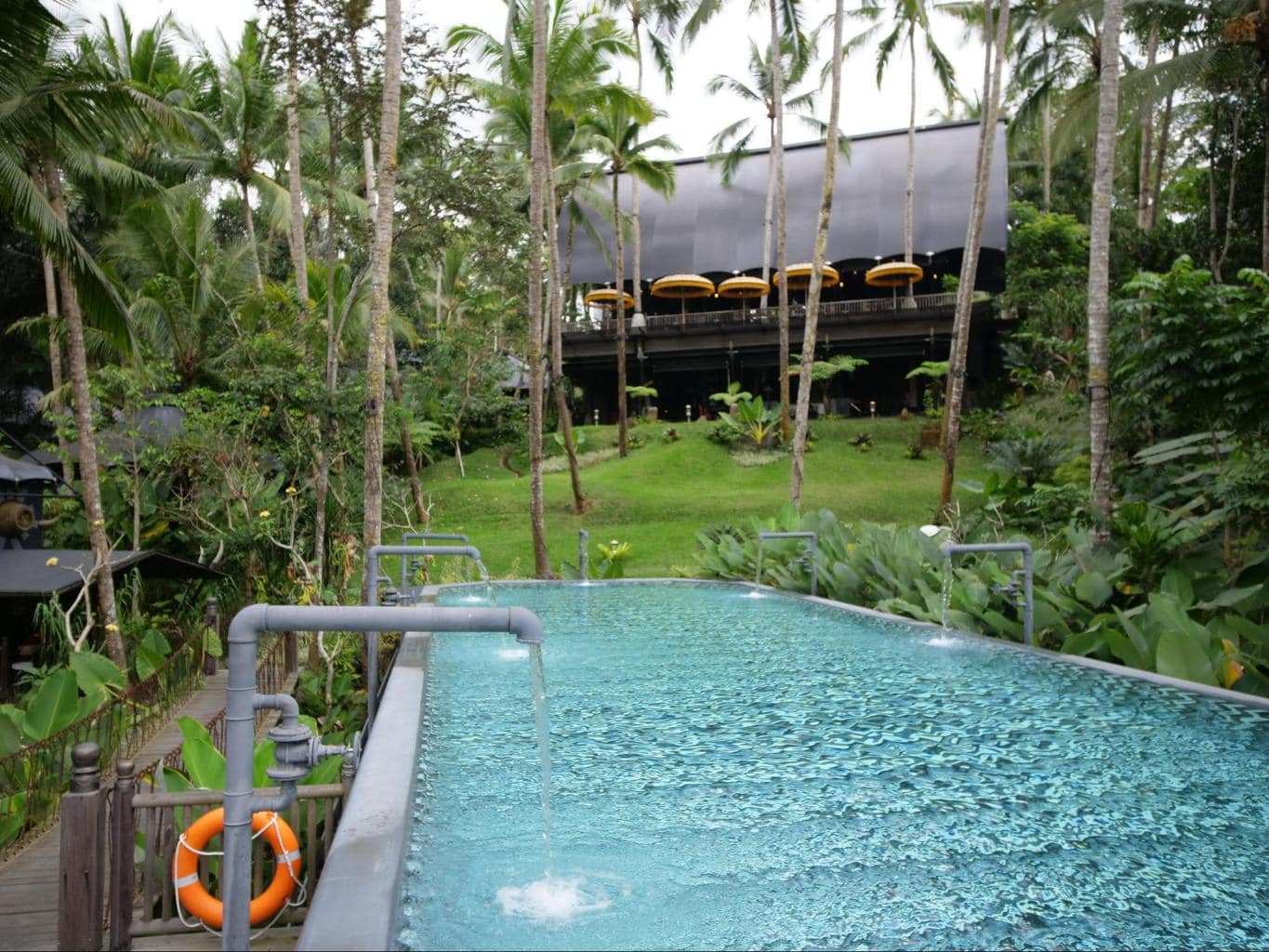 The cistern pool at Capella Ubud close up