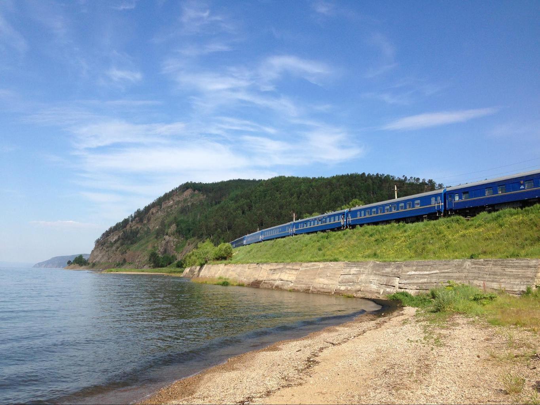The shores of Lake Baikal