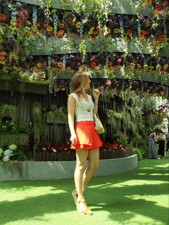 Upside-down hanging gardens at Floral fantasy