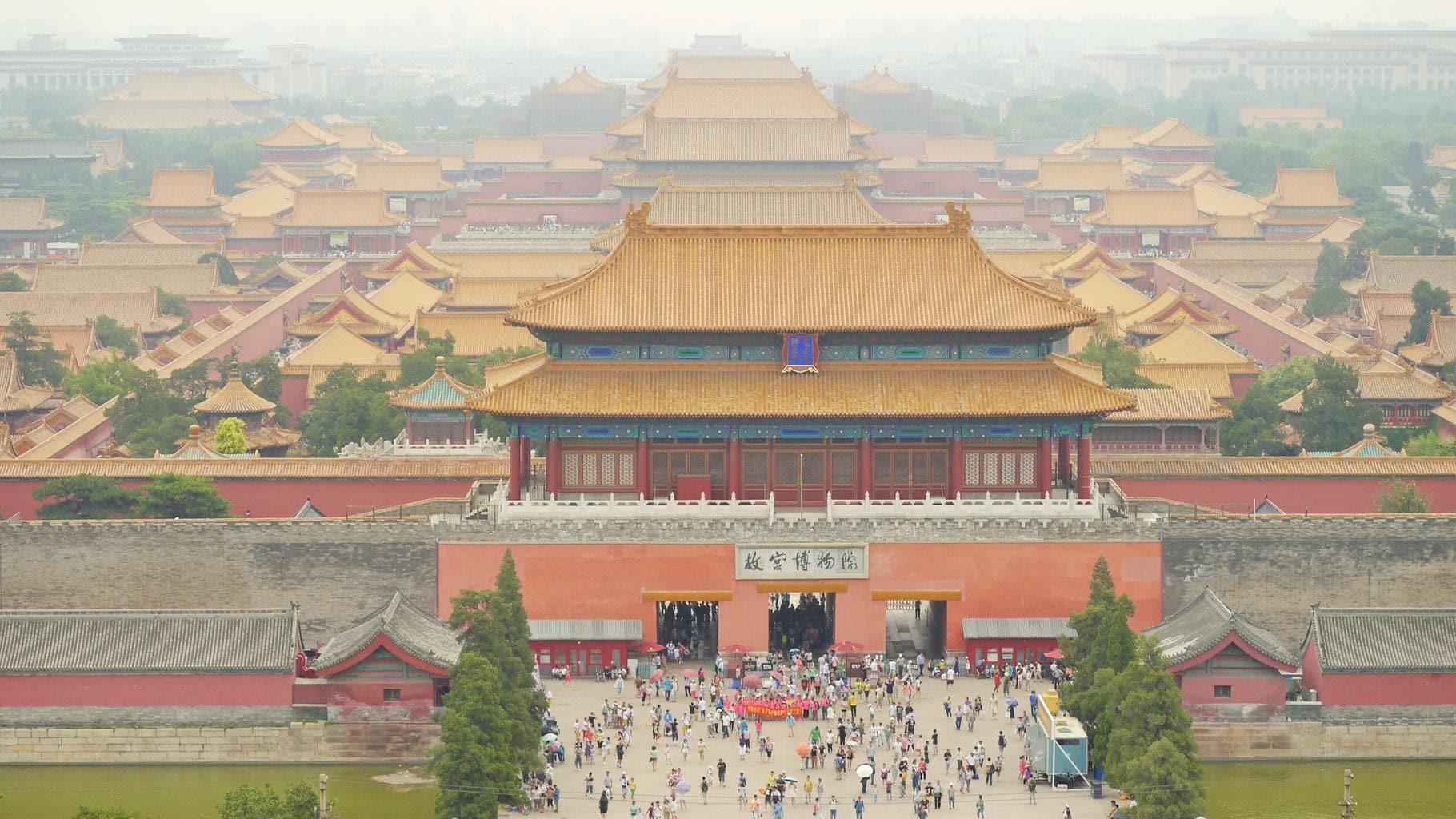 Beijing's Forbidden City hidden behind the smog