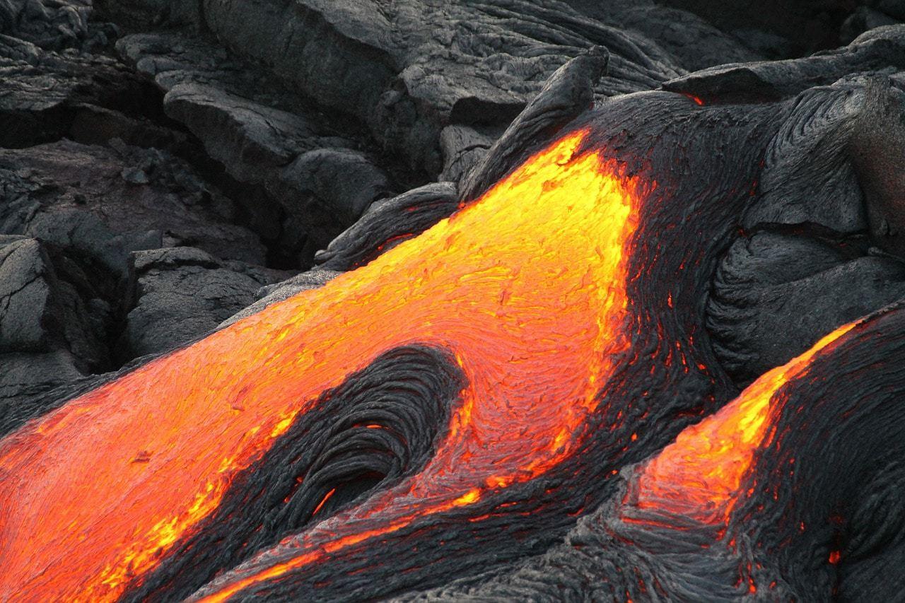 Hawaii's active volcano