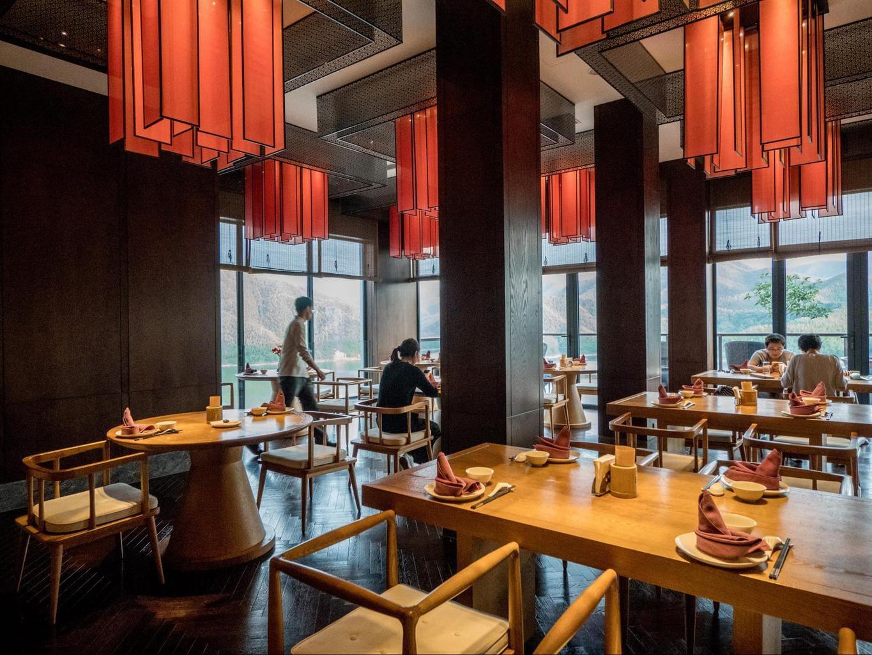 Hidden Dragon restaurant at Alila Anji