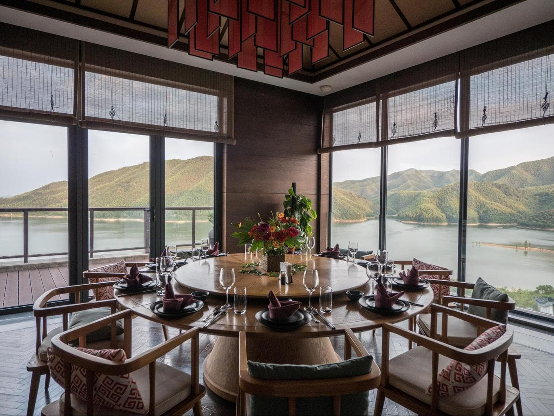 Private dining at Alila Anji