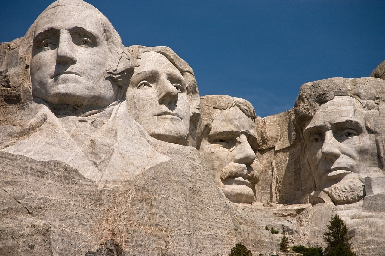 Rushmore Monument with US Presidents