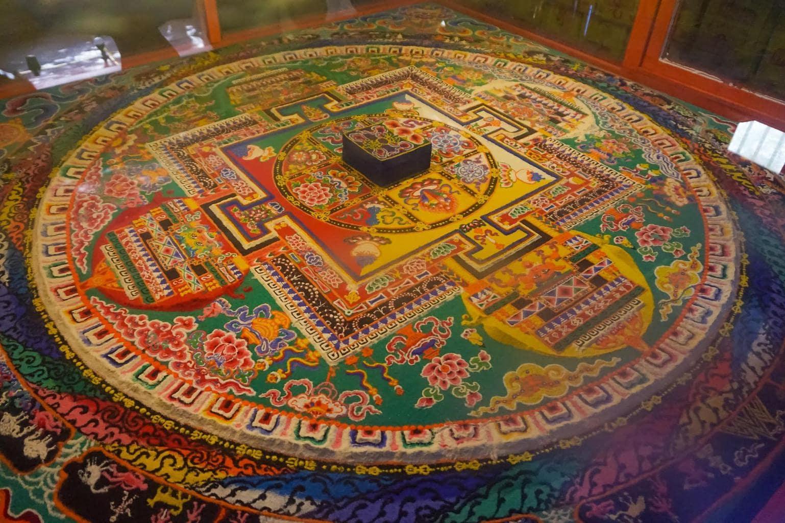 Sand mandala at Sera Monastery