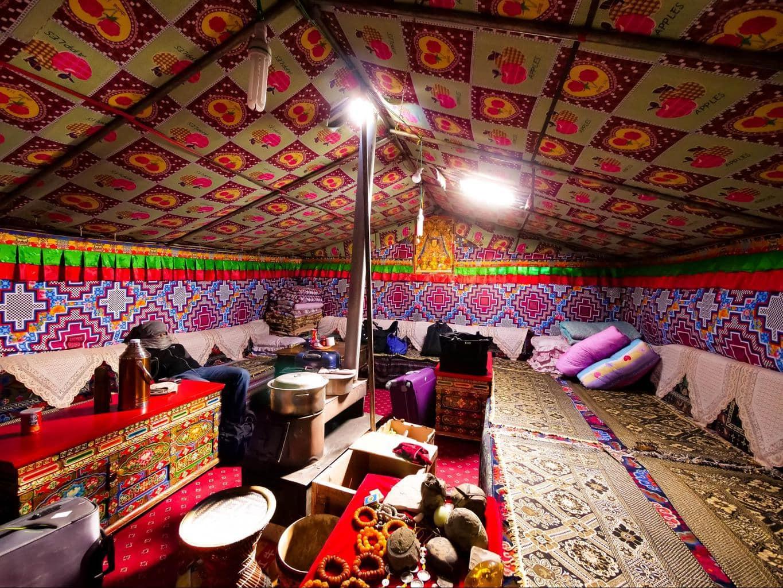 Sleeping tent at Tibet's Base Camp