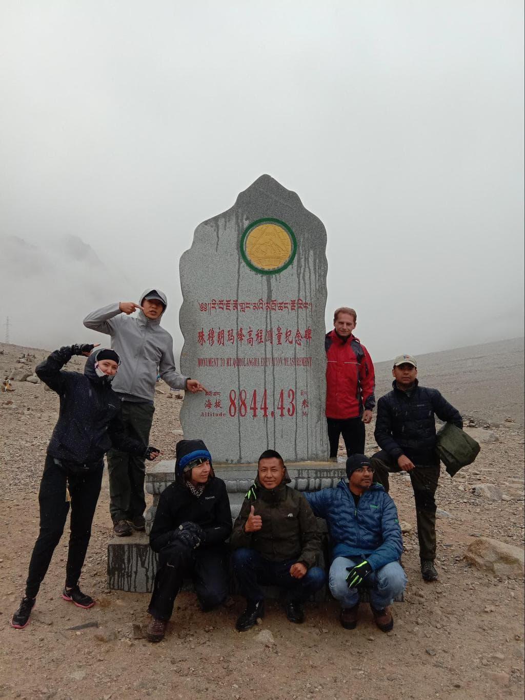 Stela at Everest base camp in Tibet - Photo courtesy of GoToTIbet