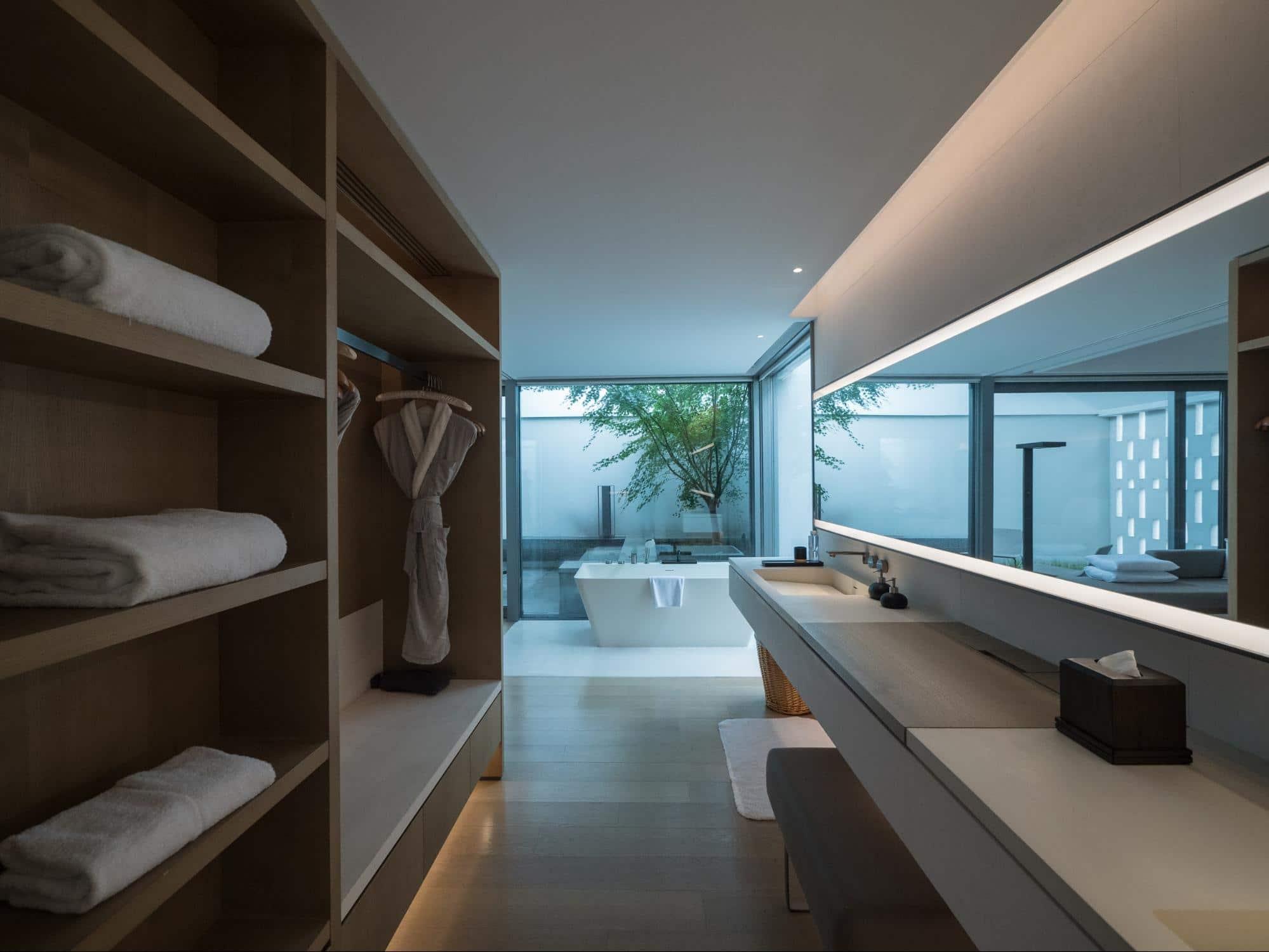The bathrooms at Alila Wuzhen