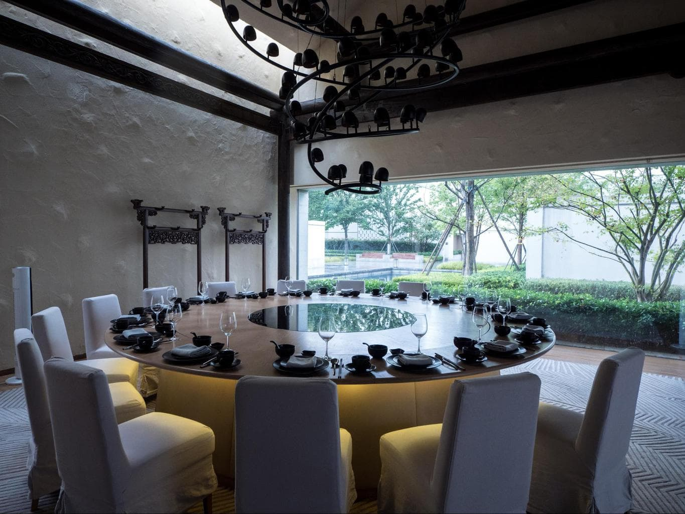 The private restaurant rooms at Alila Wuzhen