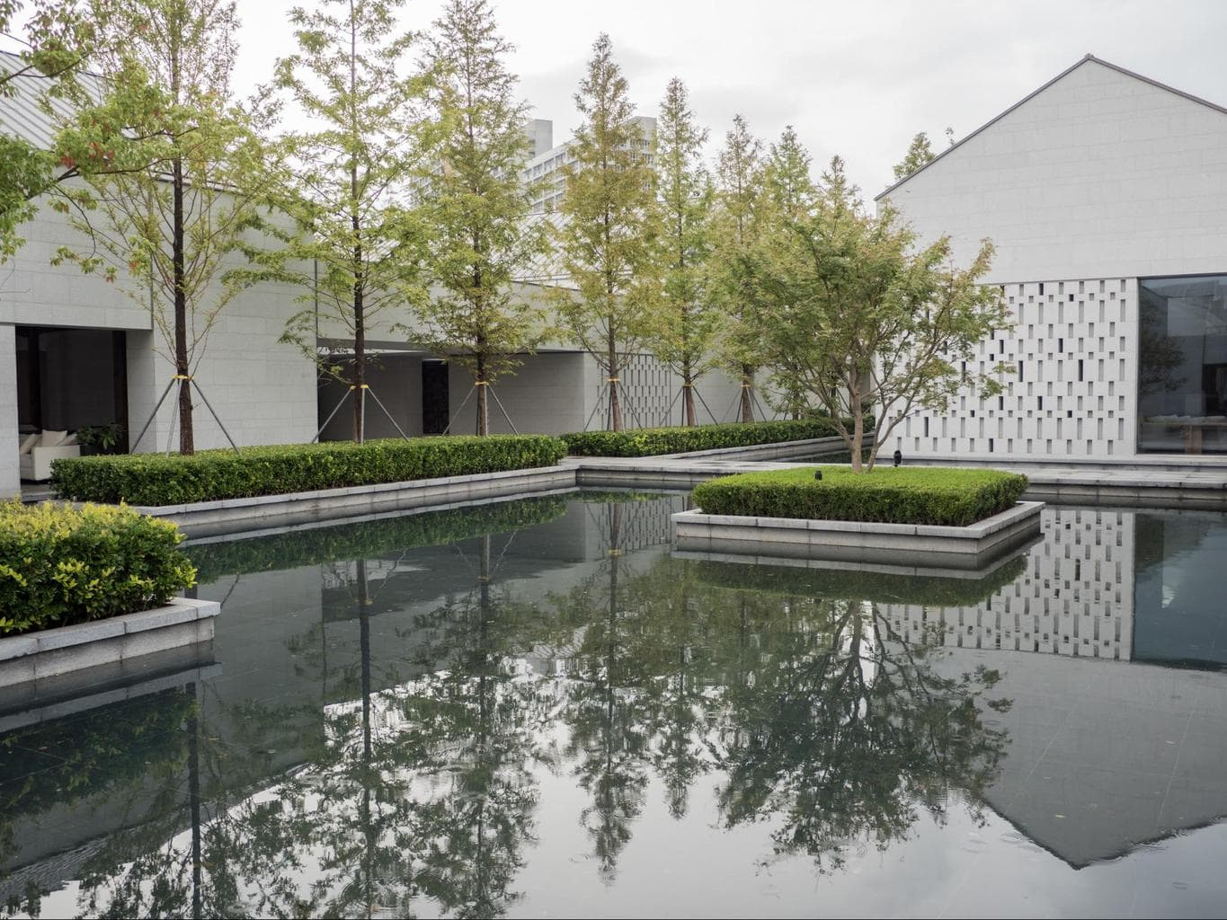 The water features at Alila Wuzhen