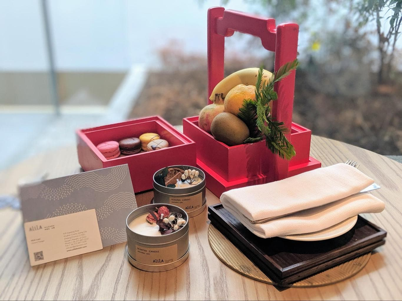 Welcome gifts at Alila Wuzhen