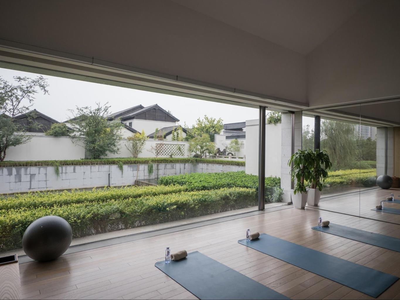 Yoga studio at Alila Wuzhen
