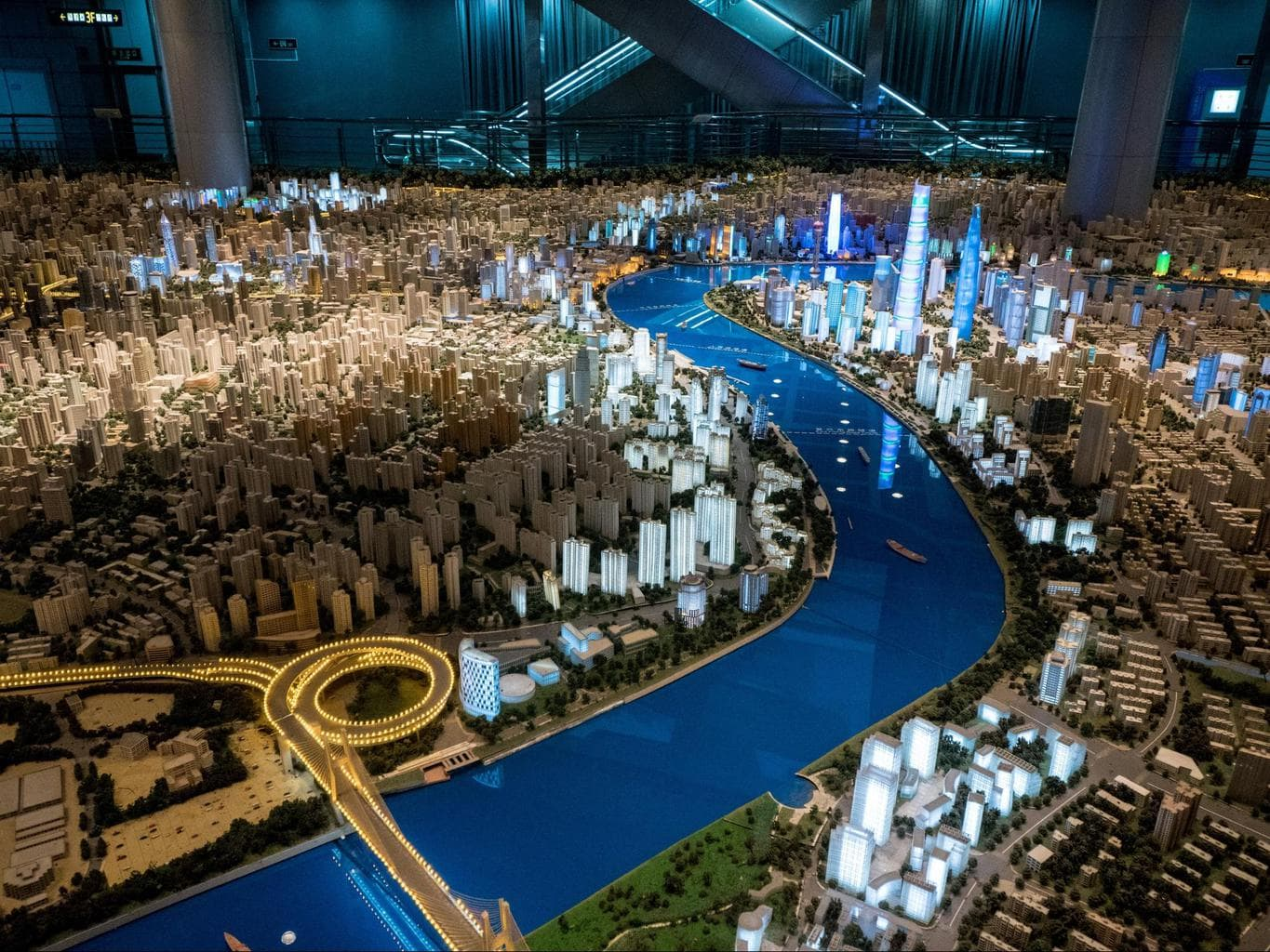3D model of Shanghai at the Shanghai Urban Planning Exhibition Hall