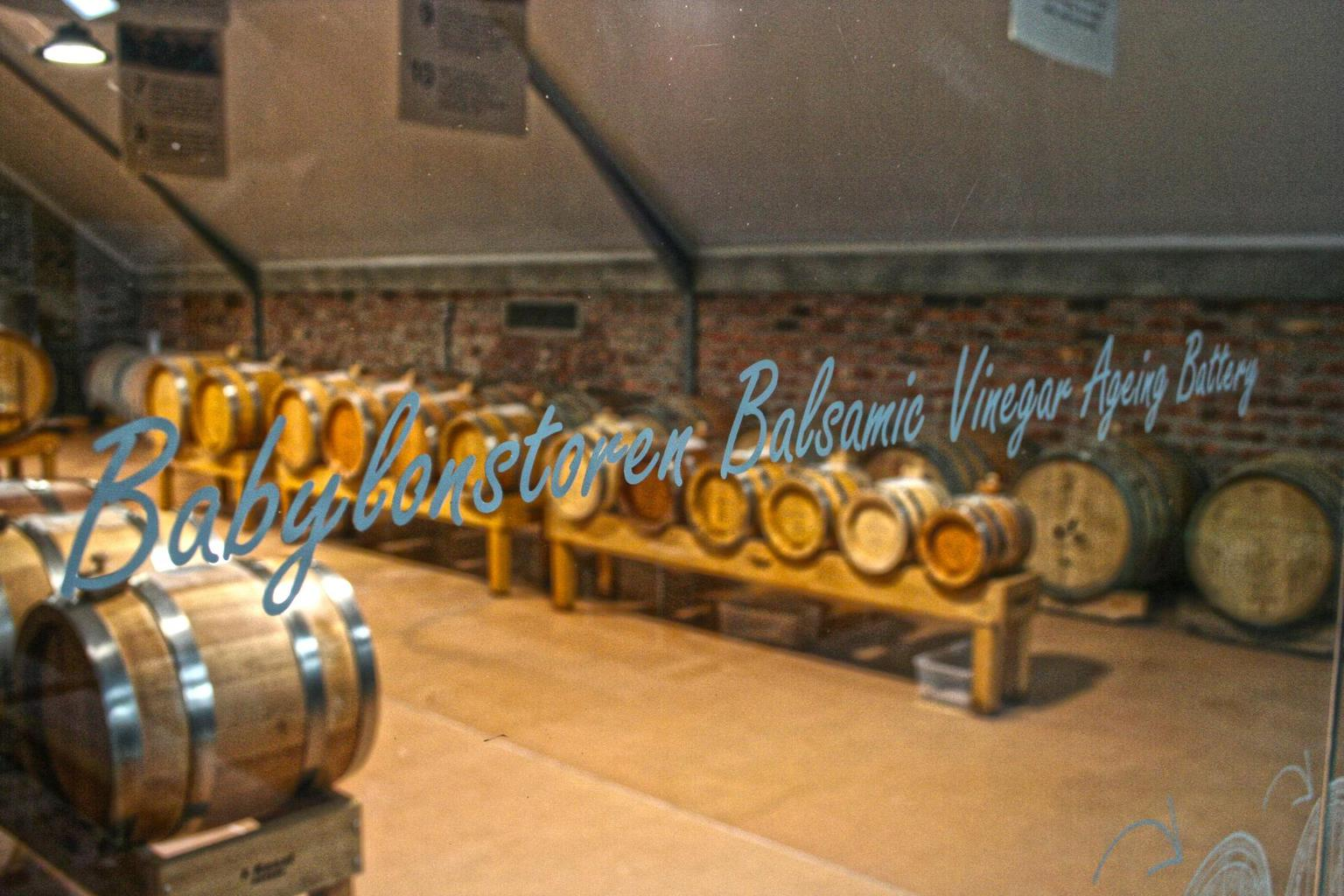 Balsamic vinegar ageing battery at Babylonstoren