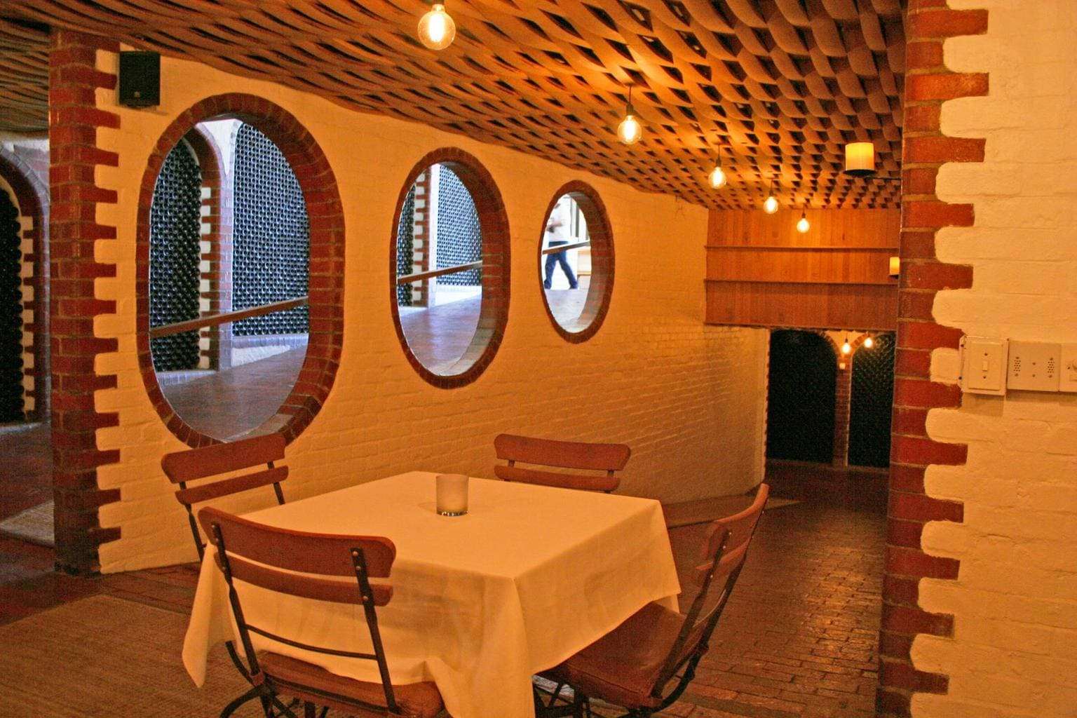 Cellar seating at Rust en Vrede