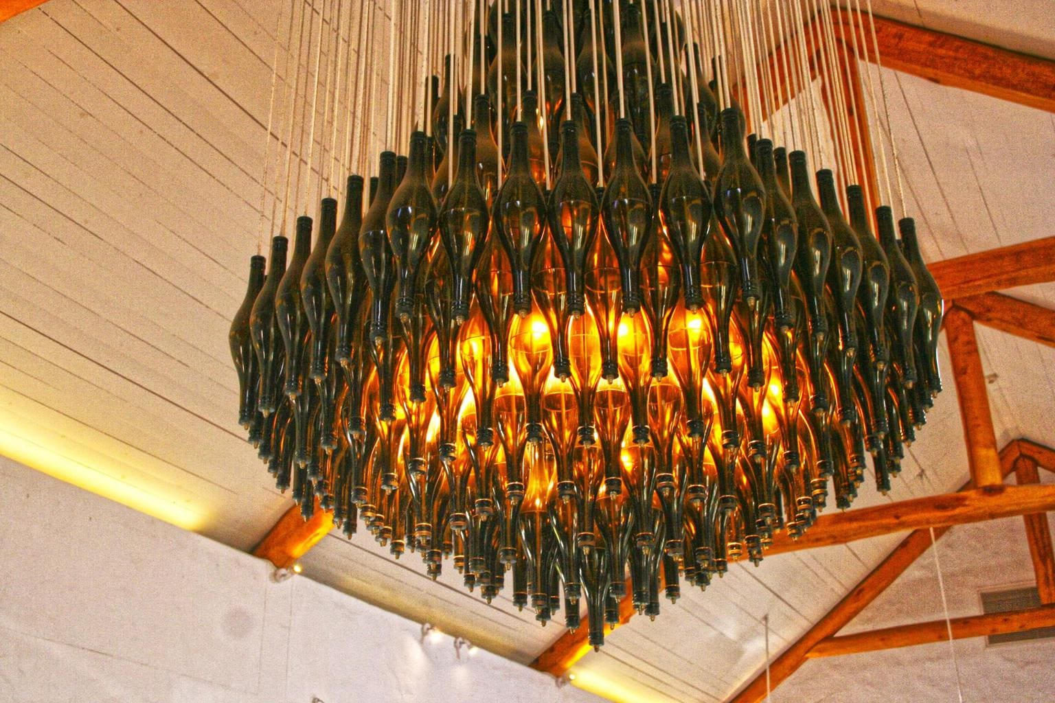 Chandelier at Spier tasting room