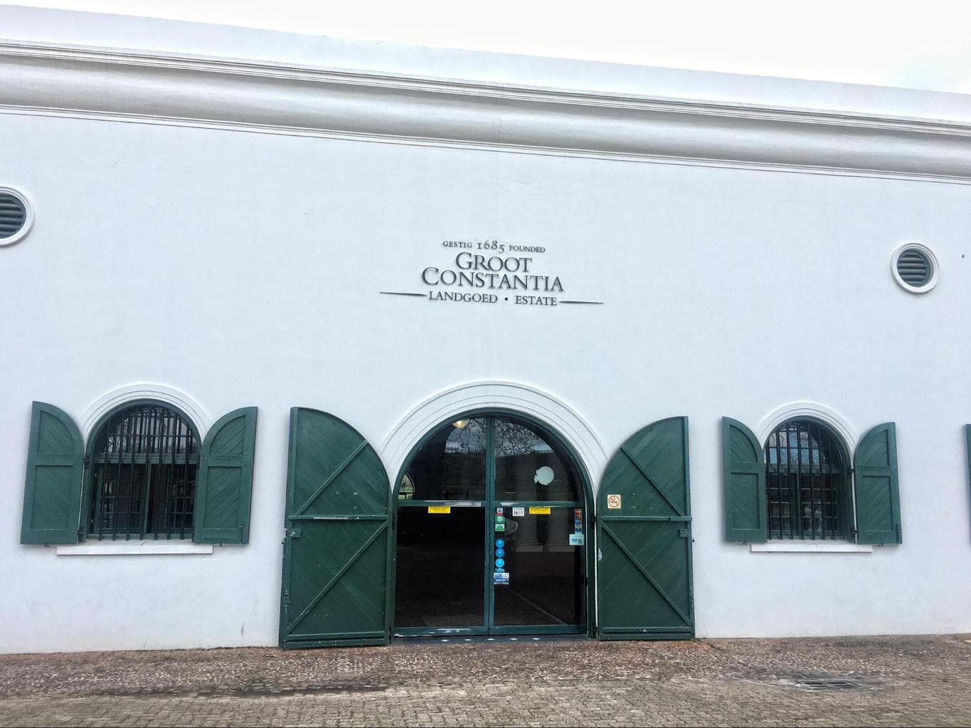 Entrance to tasting room at Groot Constantia