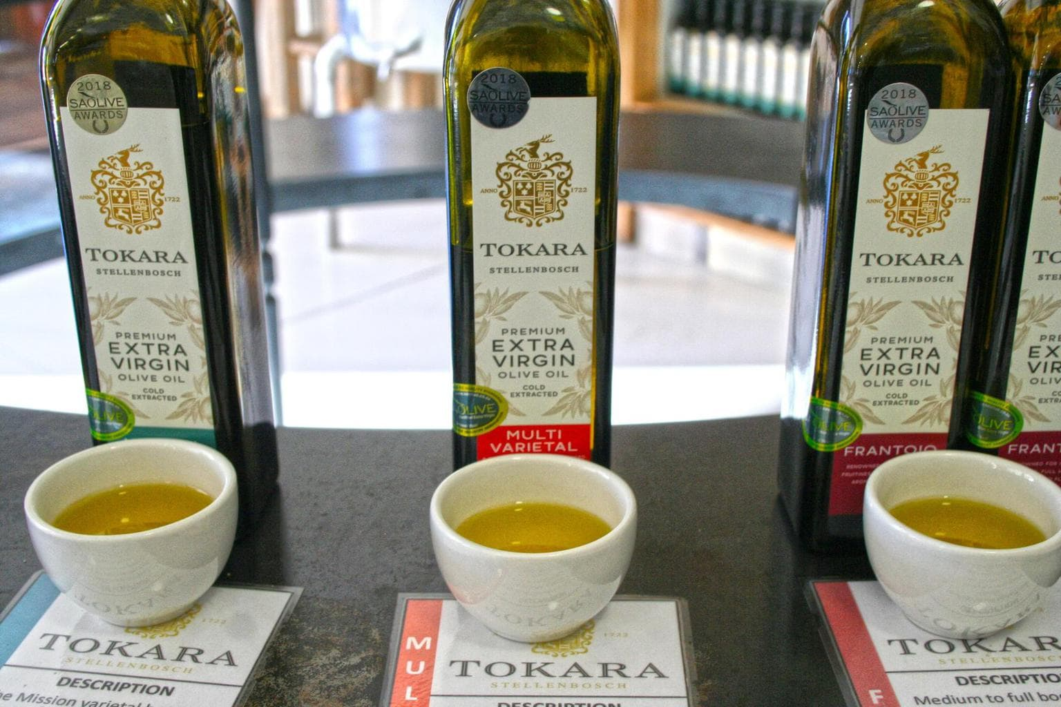 Free olive oil tasting at Tokara