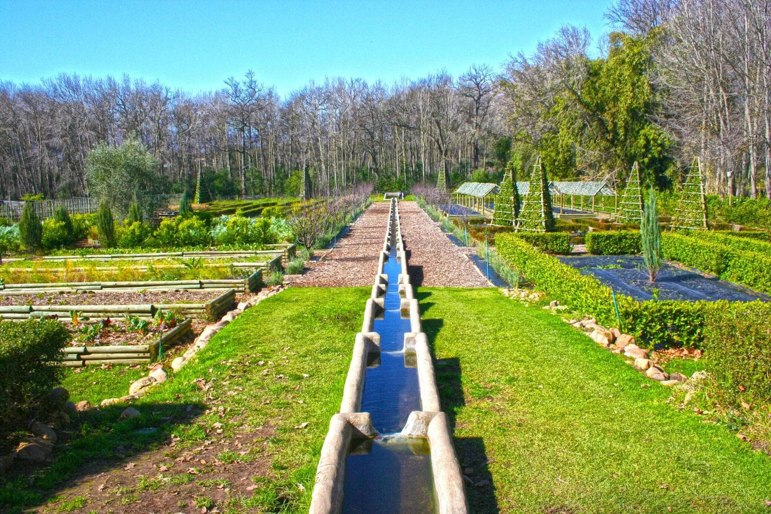 Gardening system at Boschendal