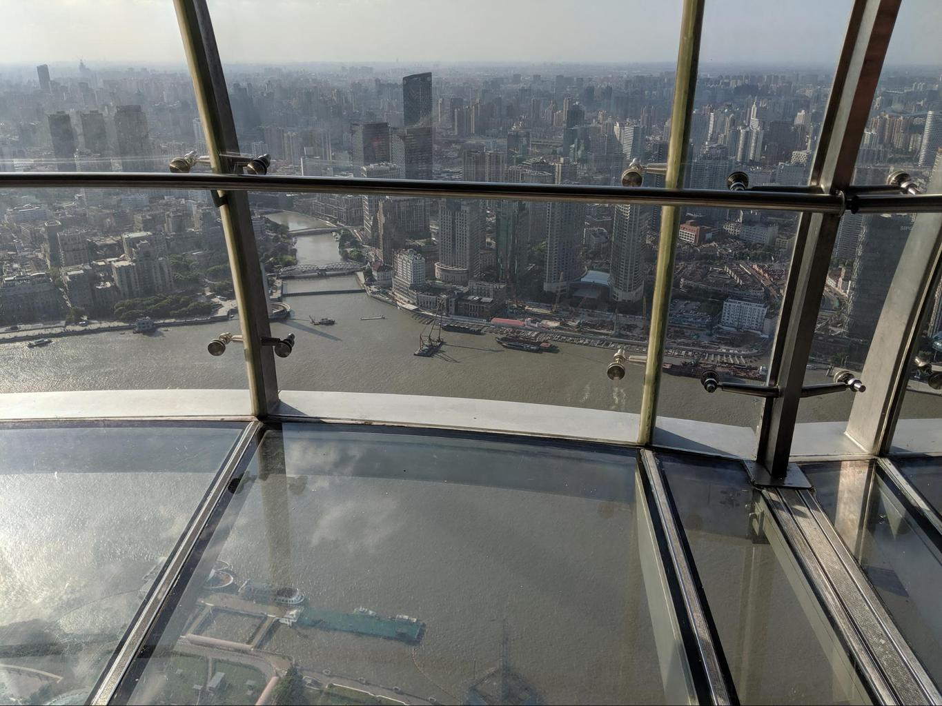 Glass corridor at the Oriental Pearl Tower