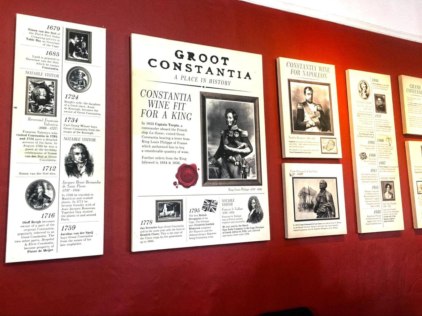 More information on the walls at Groot Constantia