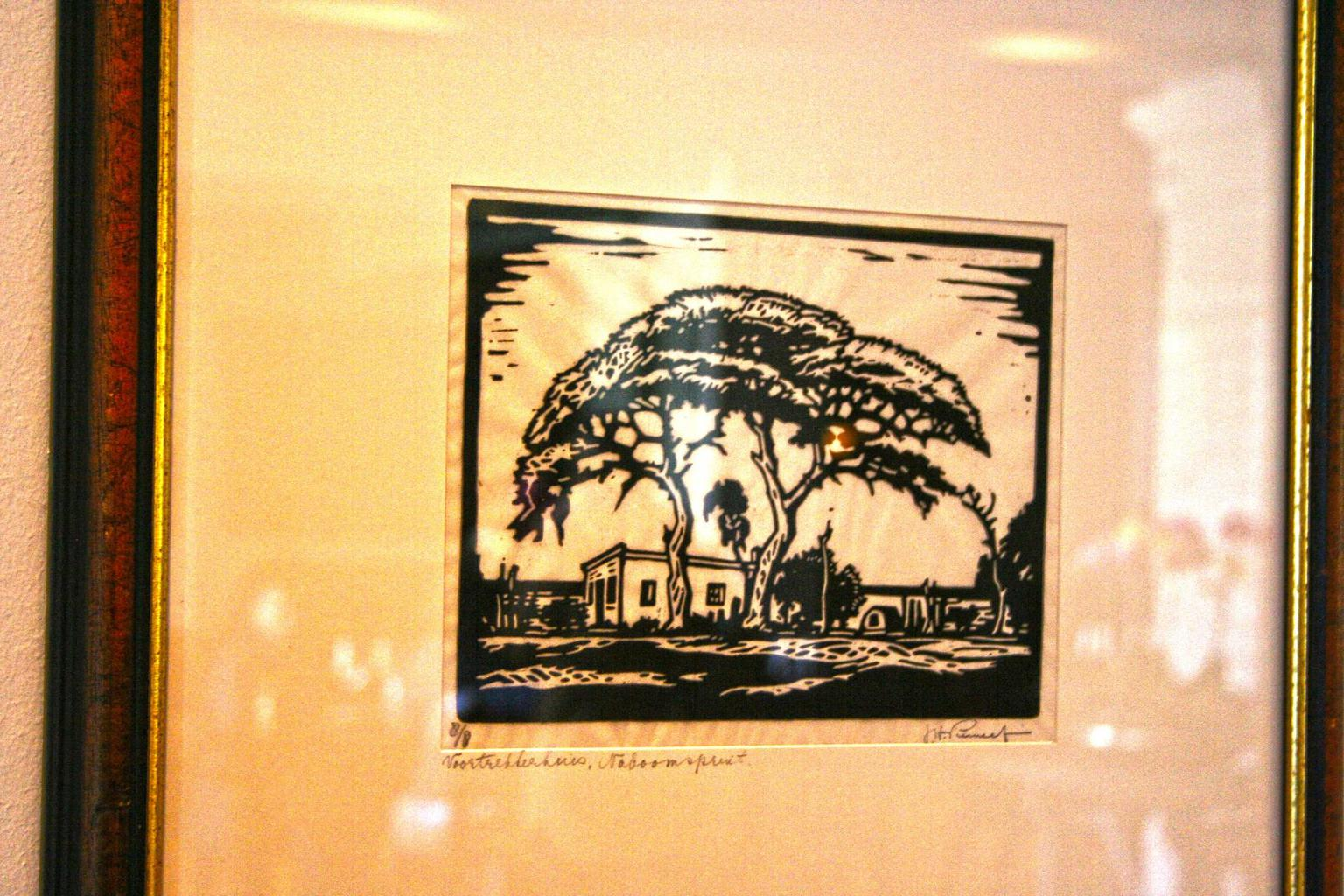 One of Pierneef's linocuts