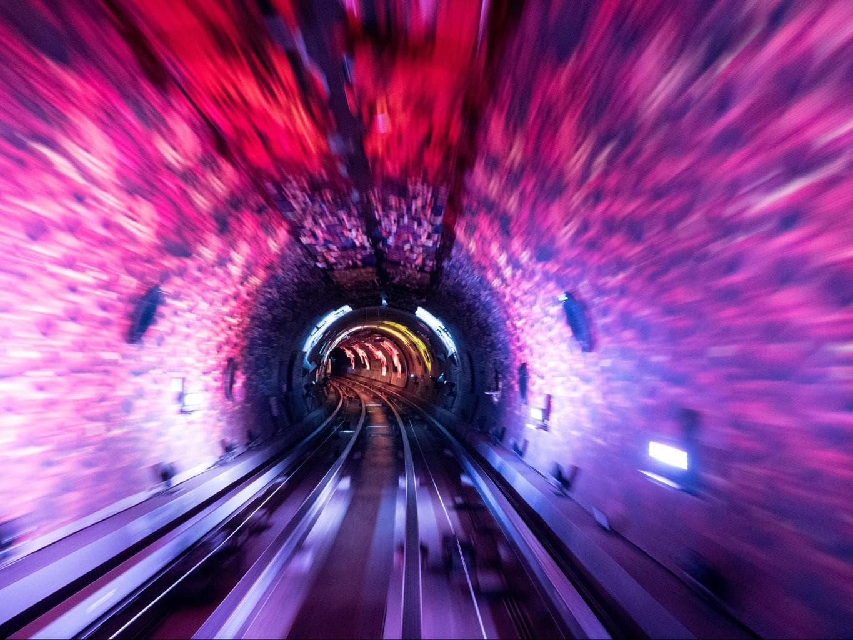 Shanghai Bund Sightseeing Tunnel light show