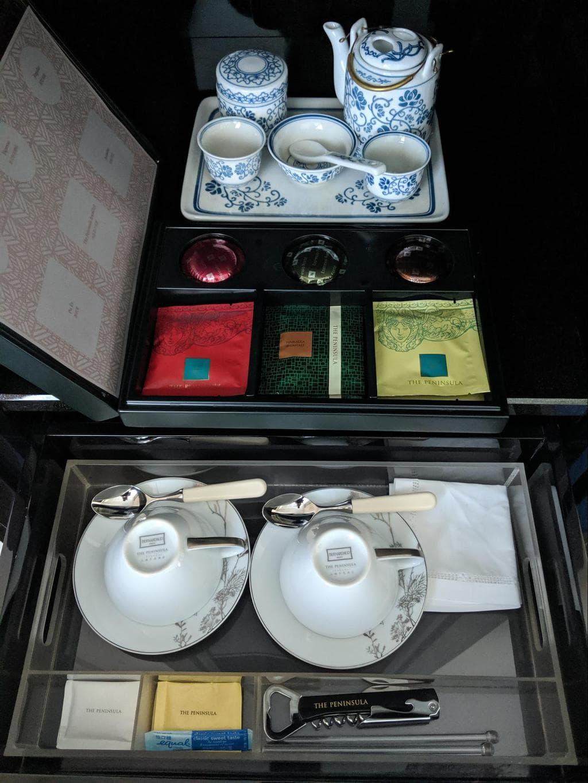 Tea set at The Peninsula Shanghai