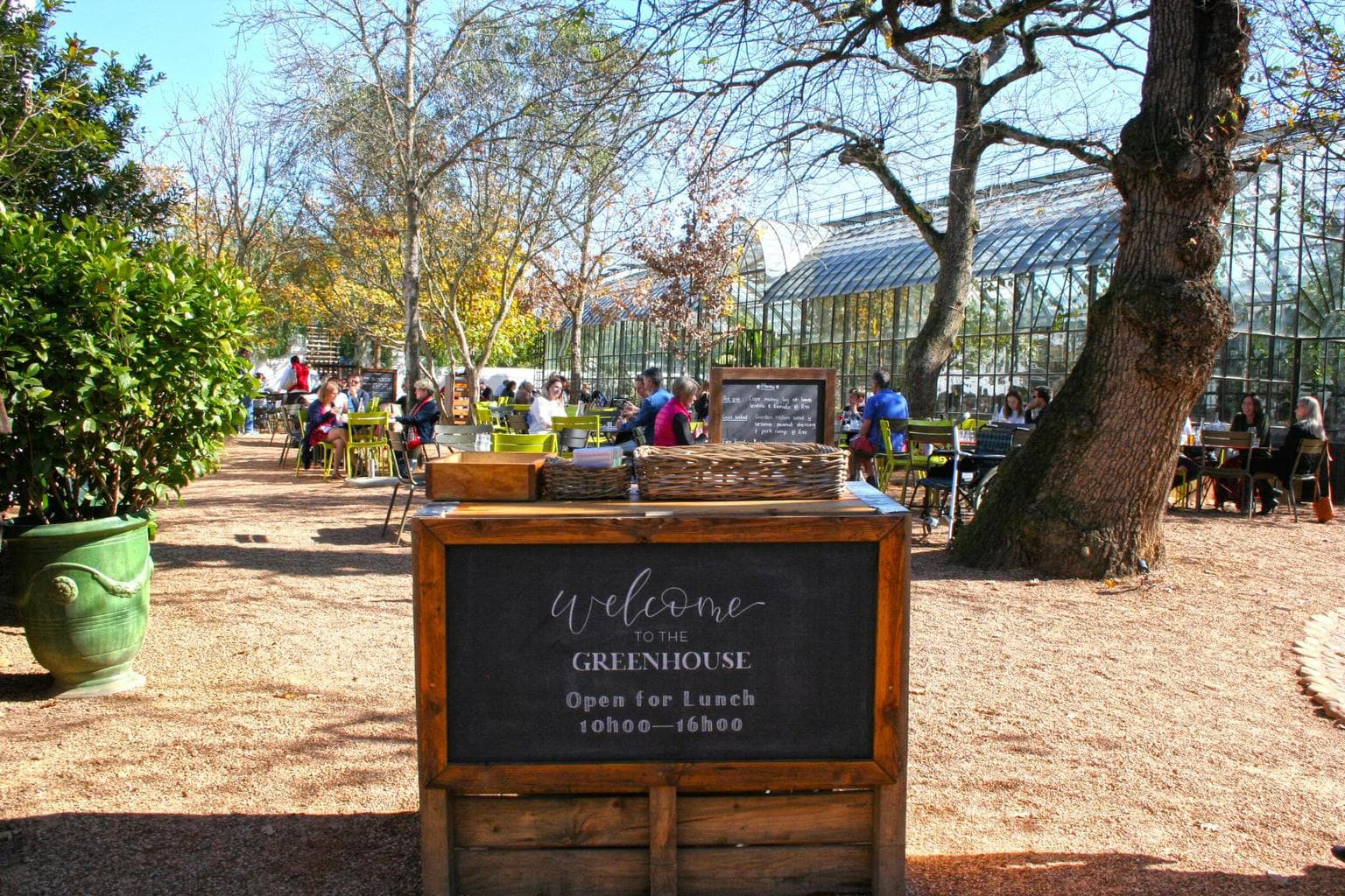 The Greenhouse restaurant at Babylonstoren