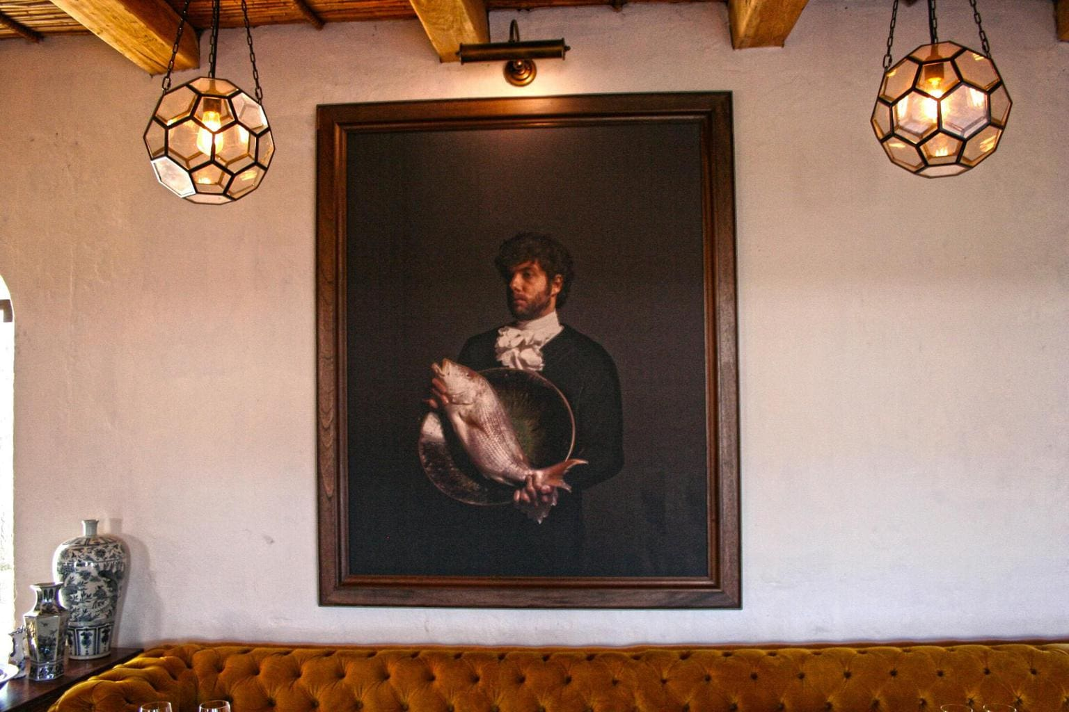 The Werf restaurant painting at Boschendal