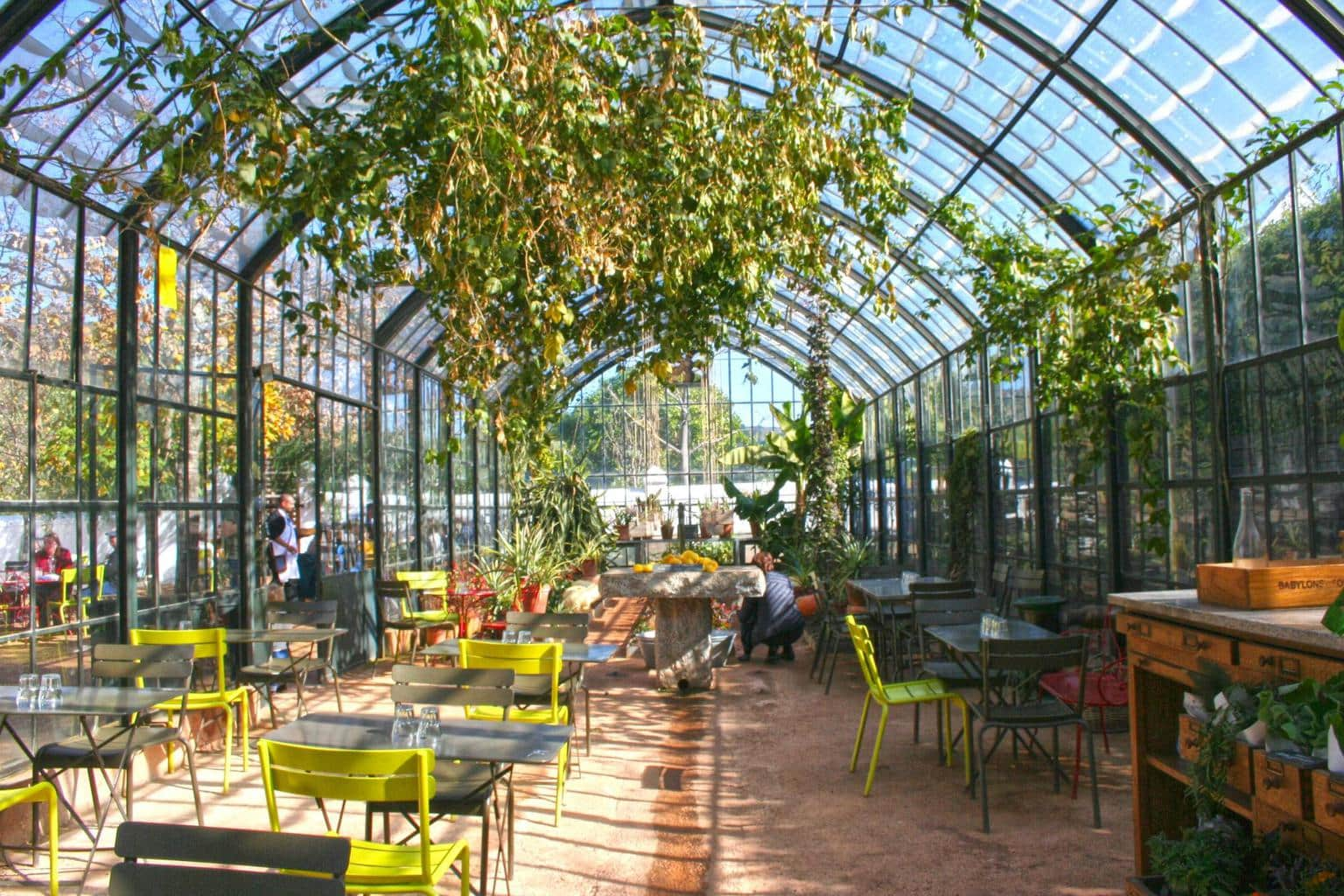 The actual greenhouse at Babylonstoren