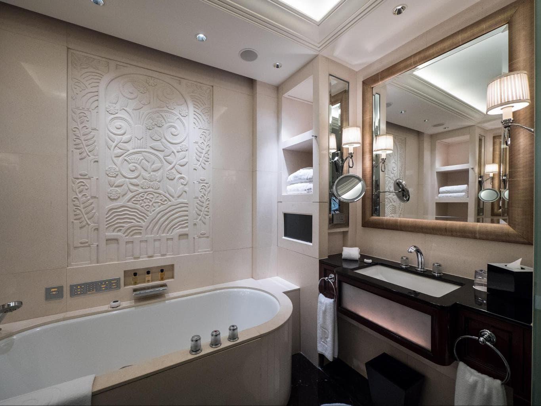 The bathroom at The Peninsula Shanghai