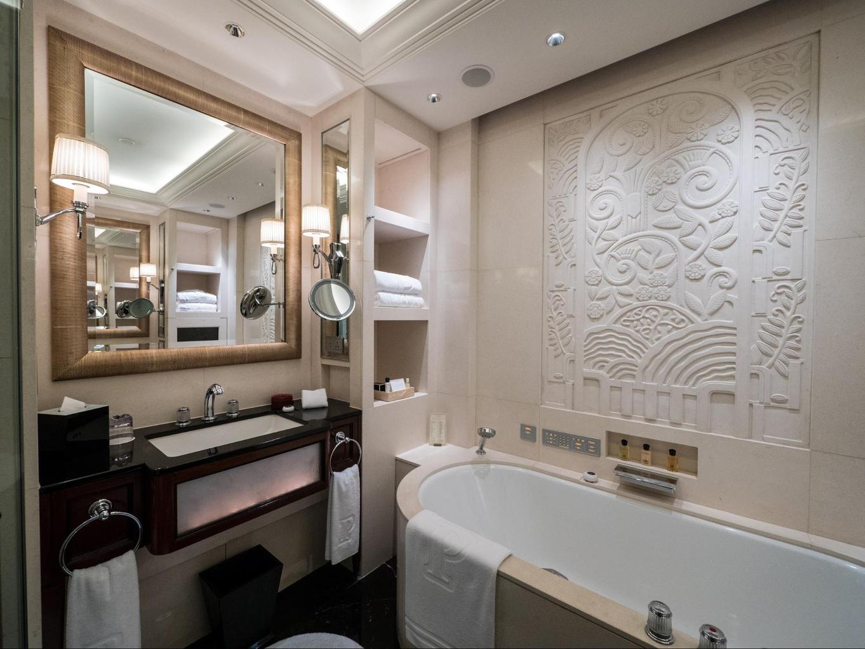 The bathrooms at The Peninsula Shanghai