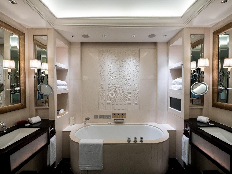 The bathtub at The Peninsula Shanghai