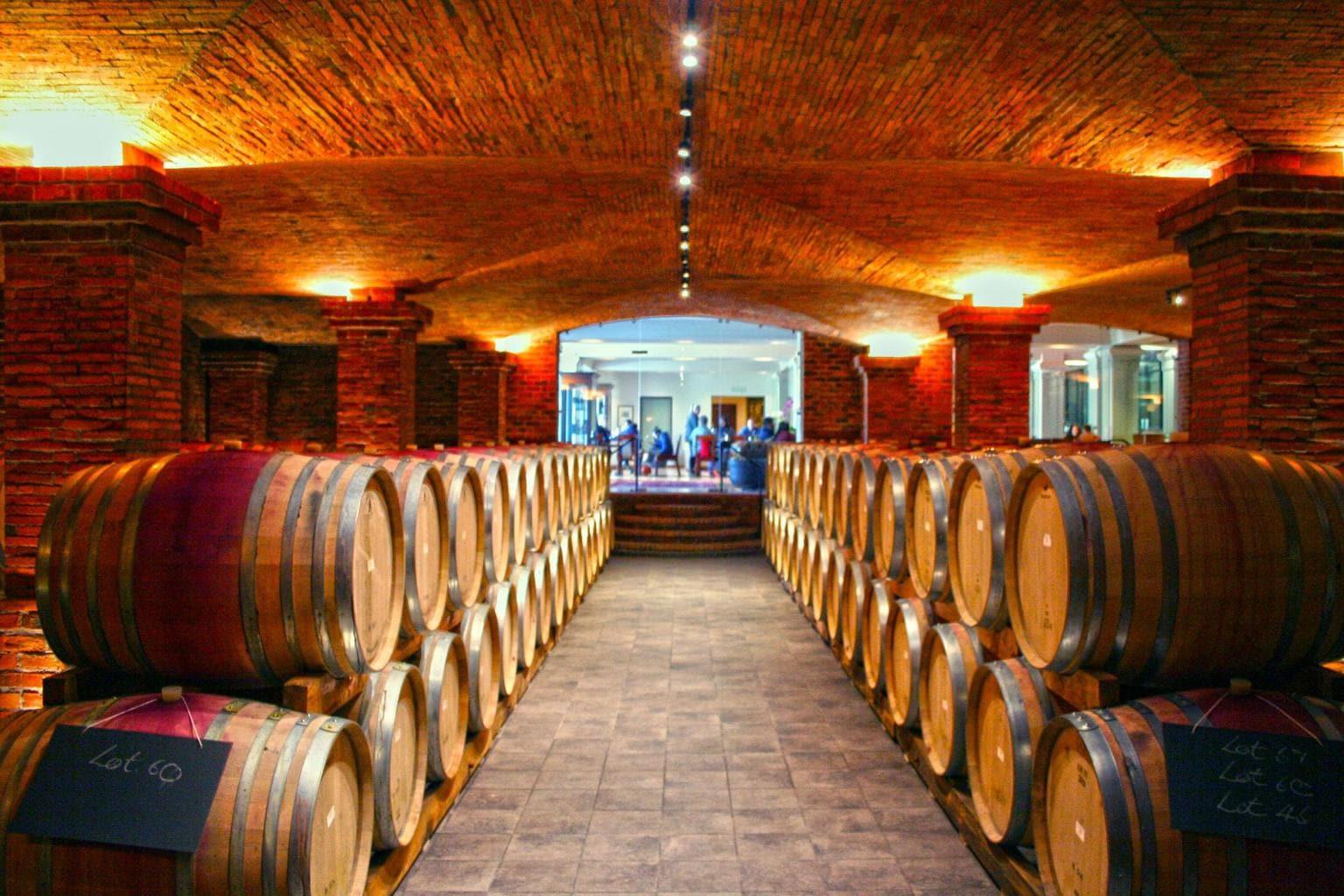 The cellar at La Motte