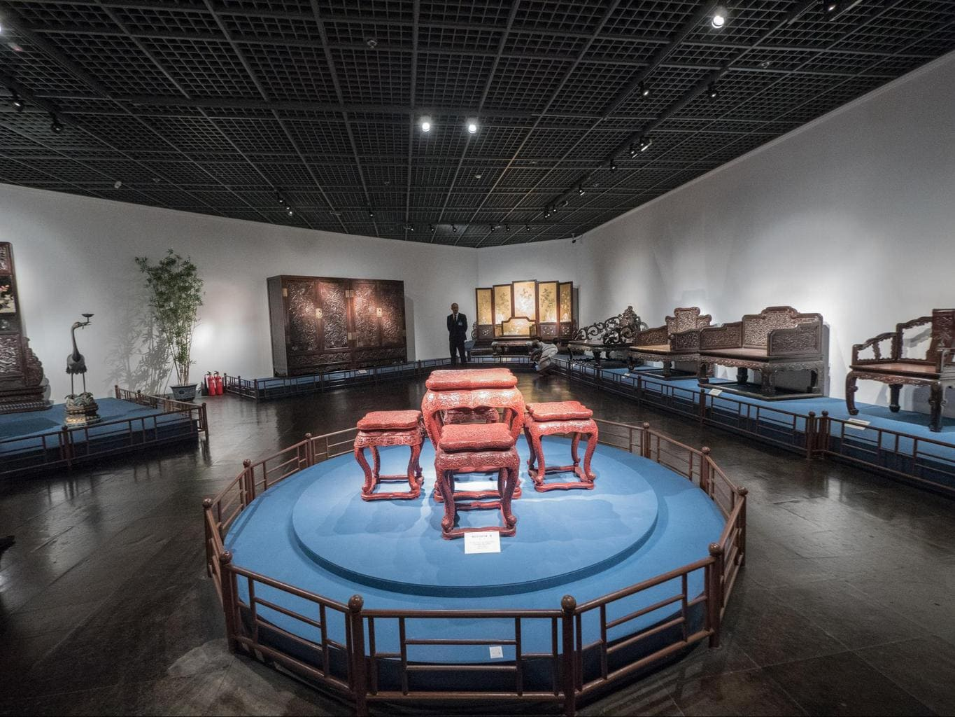 The exhibits at the Shanghai Museum